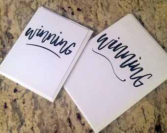 Winning -- prints or cards