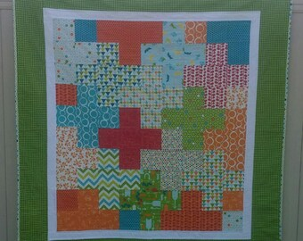 Plus Quilt, Baby Boy, Toddler, Lap Quilt, Mixed Bag from Moda