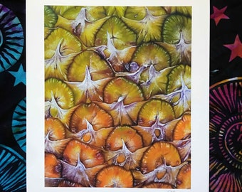 Pineapple Open Edition Print of original oil painting