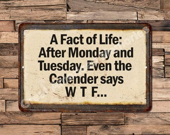 A Fact Of Life: After... Vintage Reproduction Metal Sign 8X12 8123563