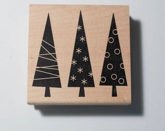 Holiday Trees stamp by Judi Kins