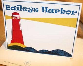 Baileys Harbor Blank Note Card