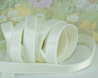 "3yds Elastic Satin White Ivory 1/2 "" inch Shiny Bra Straps Headbands underwear Elastic Bands for Bra Making Supplies Sateen Elastic"