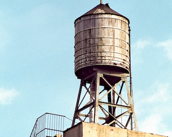 New York Water Tower, Lower East Side, Manhattan, Signed Print, Square Format Fine Art Photography, Free Shipping