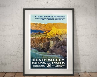 death valley, death valley national park, wall decor, vintage