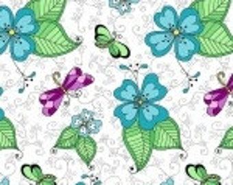 Blank quilting corp. -day of the dragonfly  white  8140