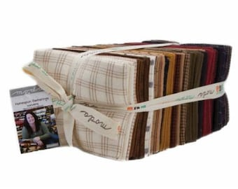 Homespun Gatherings Wovens by Primitive Gatherings for Moda Fat Quarter Bundle 40 FQ