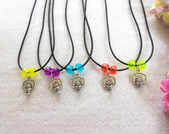10 Basketball  Necklaces Party Favors