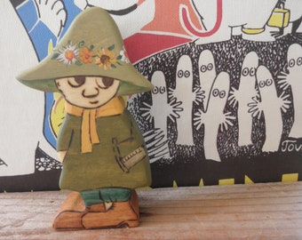 Wood Toy SNUFKIN-MOOMIN-Figure-Pretend Play-Tove Jansson- Waldorf Inspired