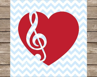 Heart Svg, Musical svg, Music svg, Treble Clef svg, Musical staff svg, Music svg files, Music Notes svg, svg files for cricut svg silhouette