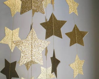Any color star garland, custom made star garland, star party decor, star garland, stars photo backdrop, party decor, wedding decor, stars