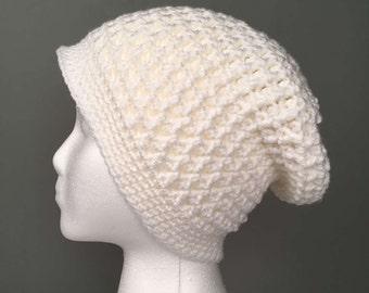 WOMEN'S TIMI Textured Beanie, Women's Hat, Women's Slouchy Beanie, Women's Accessories, Crochet Slouchy Hat, Crochet Beanie, Hat for Women.