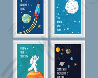 Outer space decor etsy for Outer space childrens decor