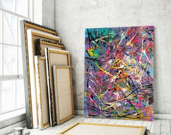 NEW SURREAL PAINTING Modern/Contemporary/Surreal/Abstract/NeoExpressionism/Home Decor/Wall Art/Interior Design/Free Shipping/Limited Edition