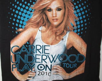 CARRIE UNDERWOOD Tour Tee vintage graphic print double sided Delta size S