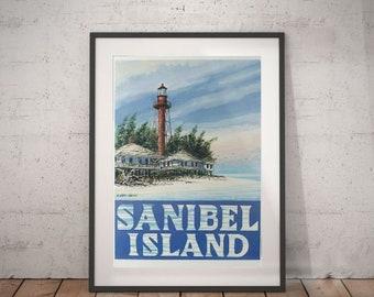 sanibel, sanibel island, ligthhouse, wall decor, vinrage