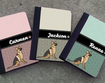 Personalized GERMAN SHEPHERD Padfolio case with Notebook, DOGBREED themed  Notepad Cover - Notebook, Teacher Gift, Pad, Note Pad