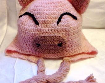 Peruvian laughing pig! crocheted in two shades of pink