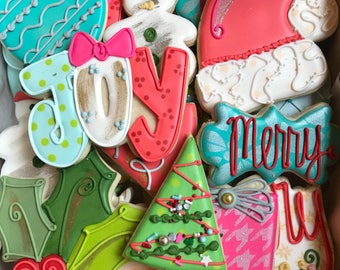 Christmas Decorated Sugar Cookies-1 dozen