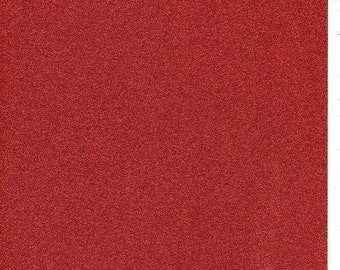 Red Glitter Card A4 soft touch low shed 1 sheet
