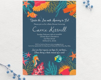 Under the Sea Baby Shower Invitation - Customized Digital File or Print Option