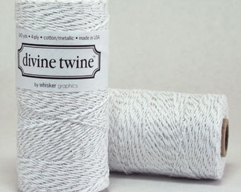 CLEARANCE Metallic Silver Divine Twine - Baker's Twine