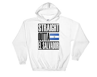 Straight Outta El Salvador Hooded Sweatshirt