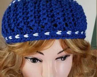 Royal Blue Color Cable Hand-Made Headband. Ready to be Shipped