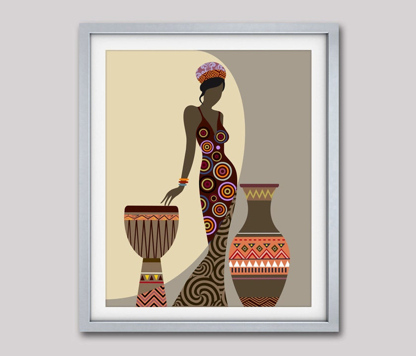 Perfect African Woman Art, Afrocentric Art, African Wall Art, Afrocentric Art,  Afrocentric Decor, African American Art
