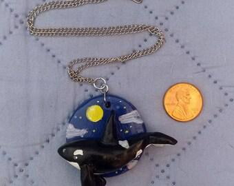 Orca Sky Whale Pendant