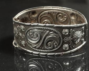 Andresen and Scheinpflug Vintage Norwegian Sterling Silver Cuff Bracelet