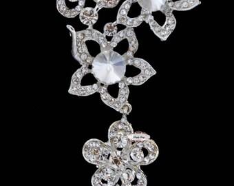 Rhinestone Brooch Pin Jewelry Supply - Rhinestone Flat back Broach - Bridal Pin - Wedding Brooch- Crystal Bouquet - Brooch Bouquet RD286