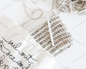 Styled Stock Photo | Yarn Bag | Blog stock photo, stock image, stock photography, blog photography