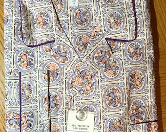 NOS Mens Pajamas Size Small 38-40 Chest The Broadway New in Pkg 1970s Deadstock