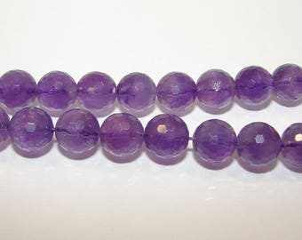 Ball diameter 10 mm faceted Amethyst. Semi-precious stone sold separately. (3368321)