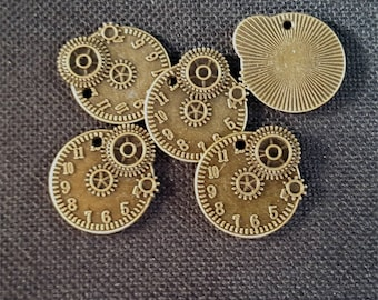 10pcs steampunk watches, COGS, gears, parts of watches #2546 bronze metal charm pendant