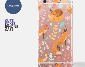 iPhone 7 Case, Cute Foxes iphone 6s case, iphone 8 case, Foxes iPhone 6 Case, Foxes iPhone 6/s Plus Case (Shipped From UK)