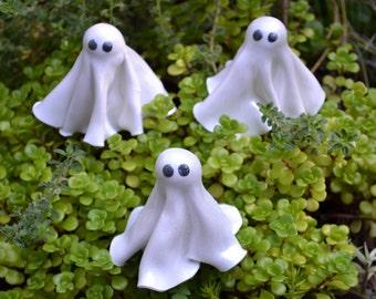Little Ghosts for Halloween Fairy Garden, Set of Three