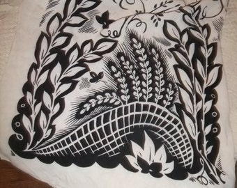 Scarf Long Black & White  #48