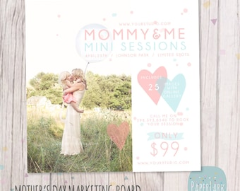 Mother's Day Template Mini Session - Photoshop Template IM015 - INSTANT DOWNLOAD