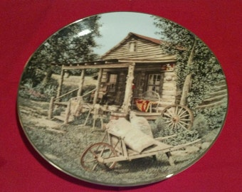 "Collectors Plate ""The Quilted Cabin"""