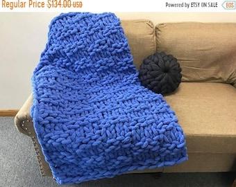 Chunky Knit Chenille Blanket, Chunky Blanket, Chenille blanket