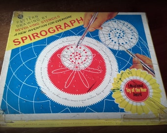 Vintage Original Spirograph 1960's Made in England plus Spirotot