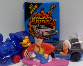COMBO- Back to the Future Trading Card and Toy Set