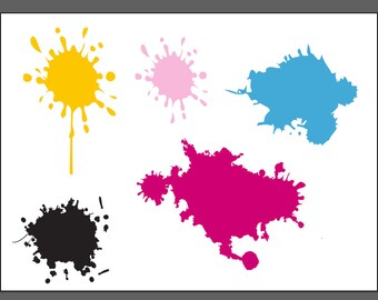 Paint Splats .SVG file for vinyl cutting