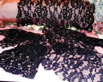 Antique Lace Lot Victorian Remnants Black #2