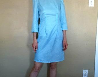 Classy Satin Sky Dress pastel blue