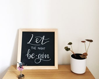 Gin black board sign, handmade, chalkboard, weddings and home decor