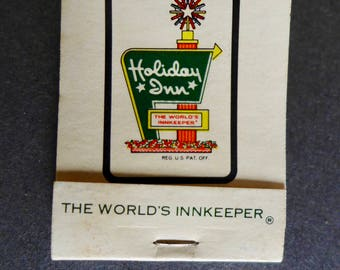 Vintage Match Book Holiday Inn/ Holiday Inn New Hope, PA/ Vintage Matchbook/ Holiday Inn Matchbook Advertising