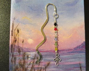Large christian bookmark scripture bookmark sunday school scripture bookmark christian gift sunday school teacher shower favors easter wavy silvertone bookmark with crystals with negle Image collections